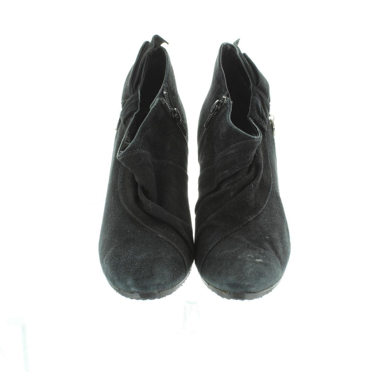 Boots N en Suede Noir Karen Millen en coloris Noir