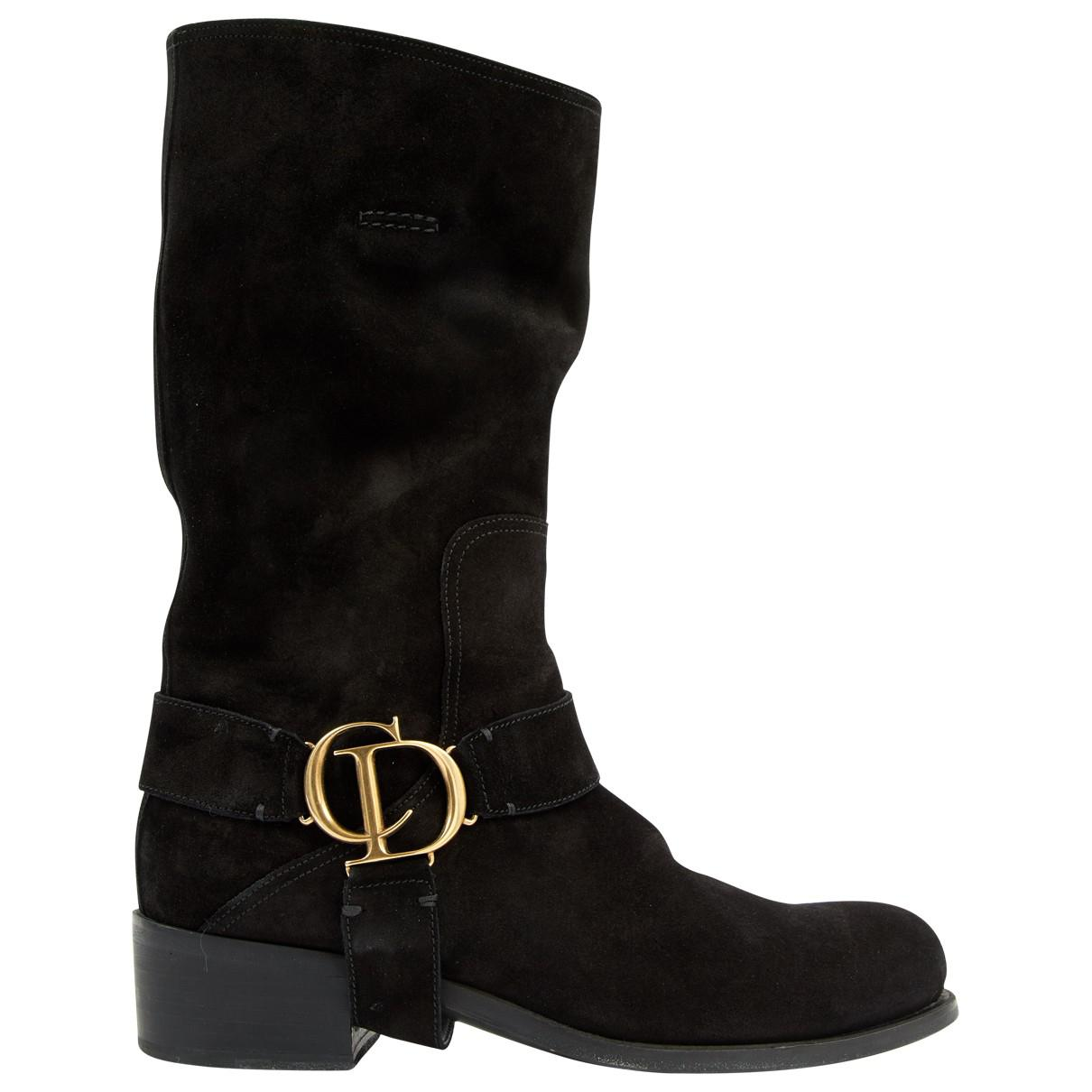 Pre-owned - Leather buckled boots Dior Cheap Order Cheap Sale Original Cheap Price 2018 Sale Online VObAYRb