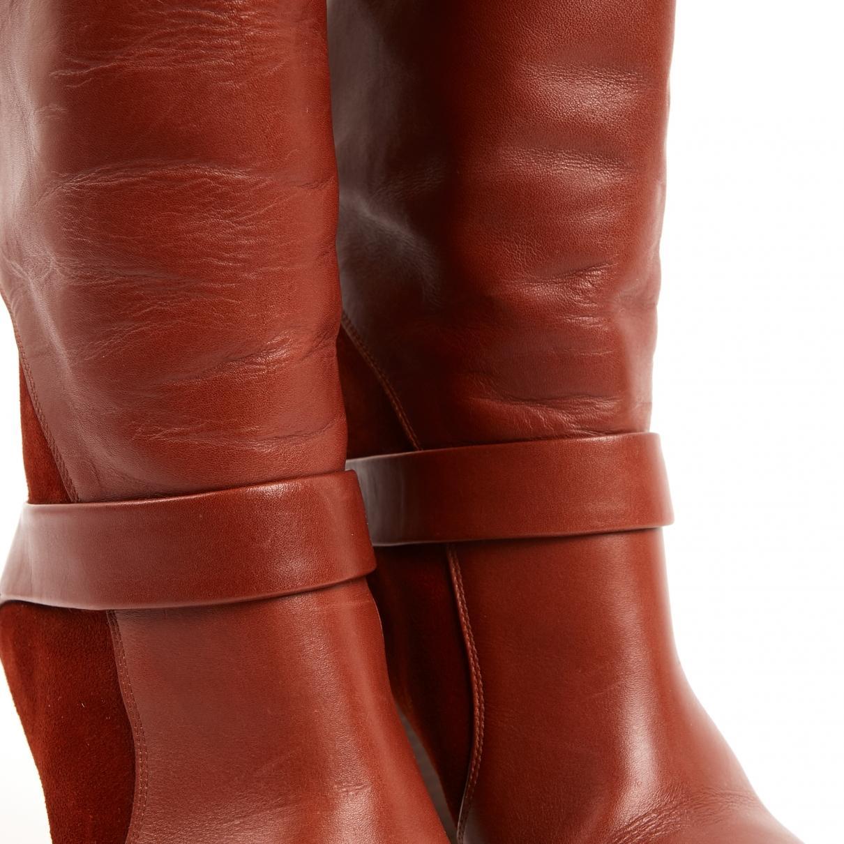 Botas de Cuero Chloé de color Rojo