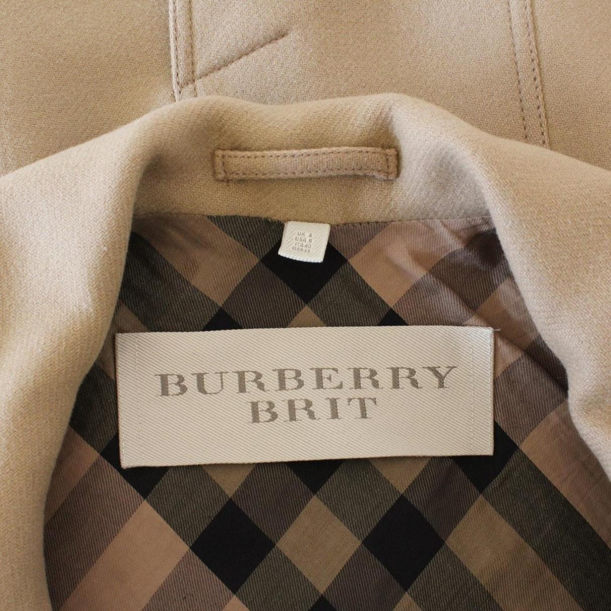 Mantel en Laine Marron Laines Burberry en coloris Marron SNbrK