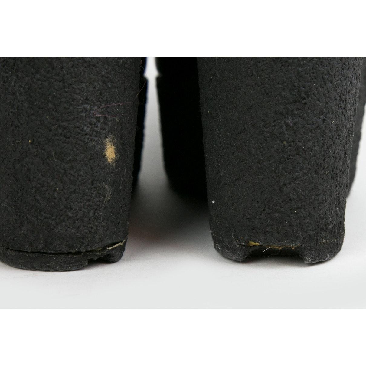 Tacones en cuero negro Celine de Cuero de color Negro