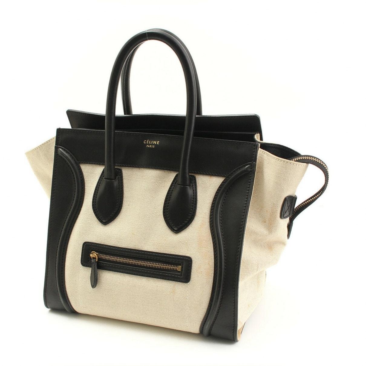 Sac à main Luggage en Cuir Multicolore Cuir Celine en coloris Noir FzVi