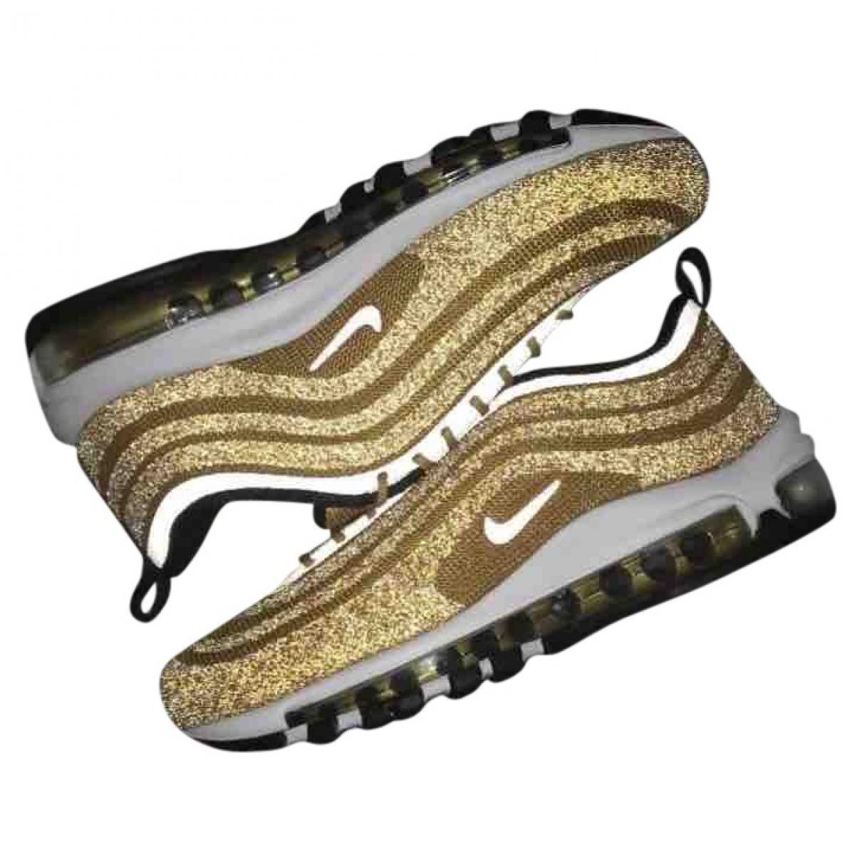 Nike Metallic Air Max 97 Gold Glitter Trainers