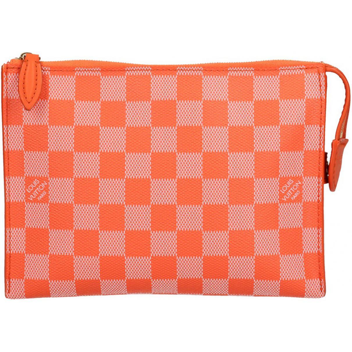 e646a1c75c49 Lyst - Louis Vuitton Pre-owned Cloth Clutch Bag in Orange