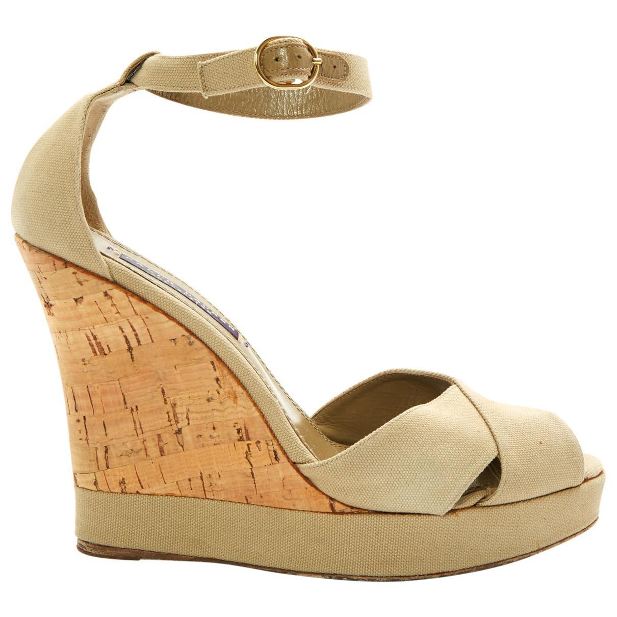 Pre-owned - Cloth sandals Ralph Lauren goivI7she3