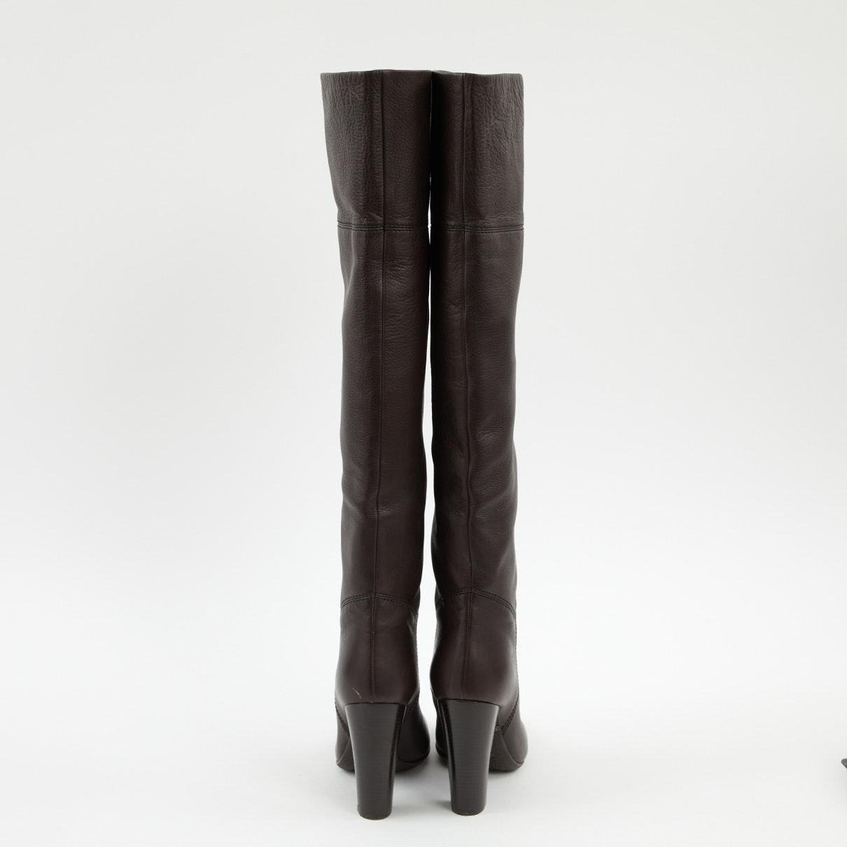 Botas en cuero negro Giuseppe Zanotti de Cuero de color Negro