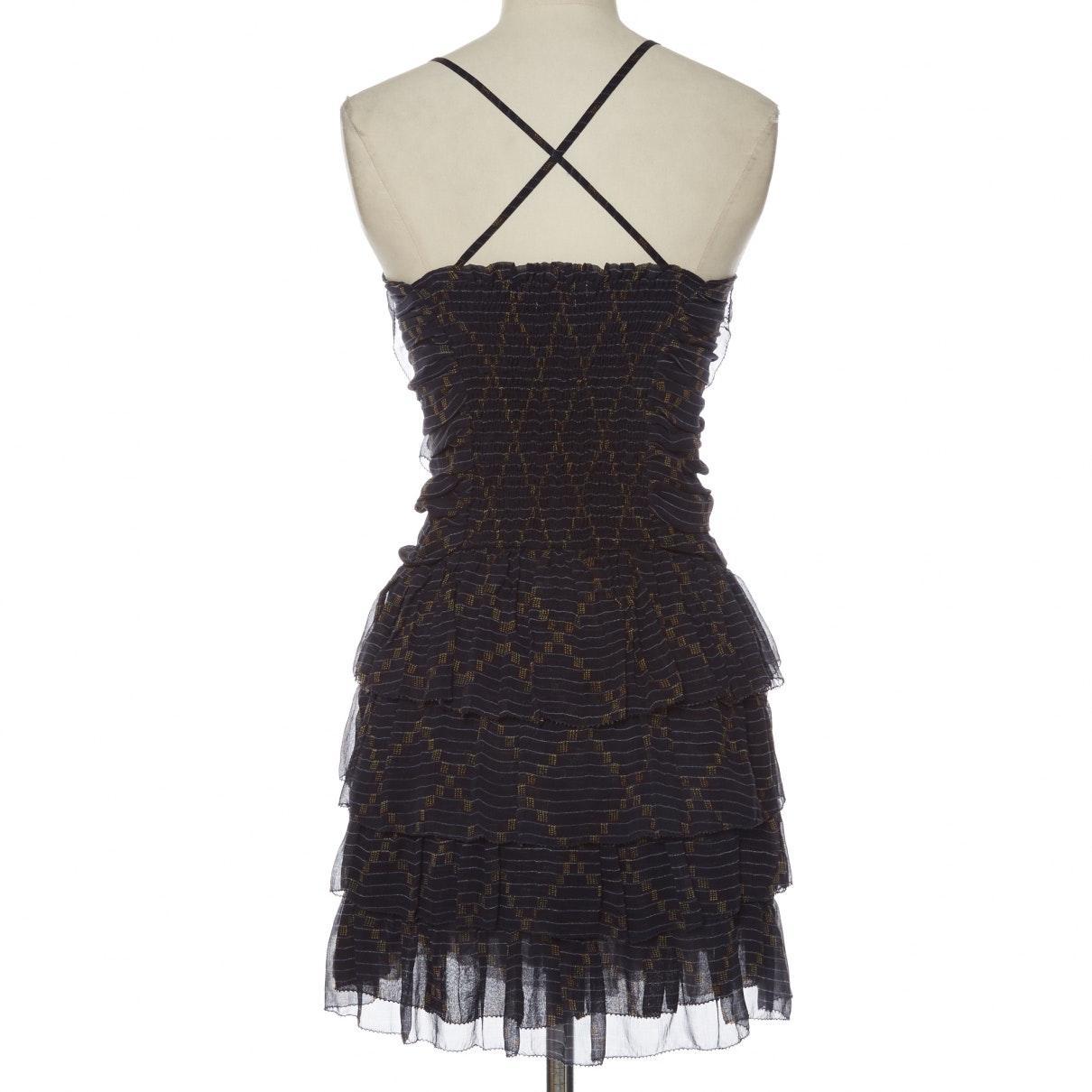 Vestido en seda multicolor Étoile Isabel Marant de Seda de color Negro