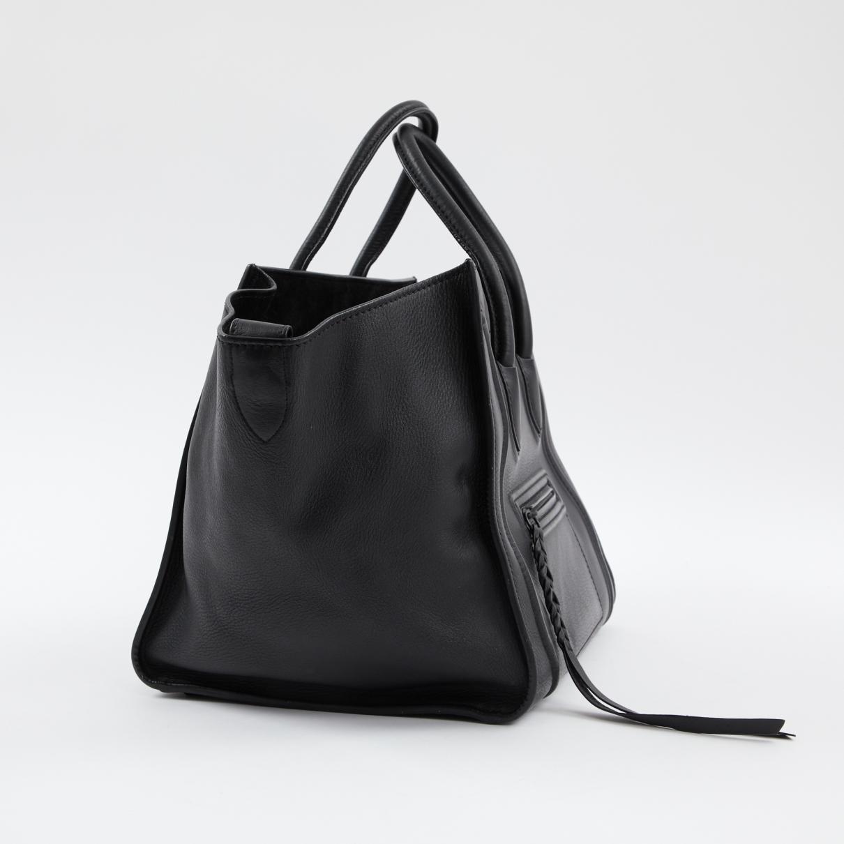Sac à main Luggage Phantom en cuir Cuir Celine en coloris Noir j08i