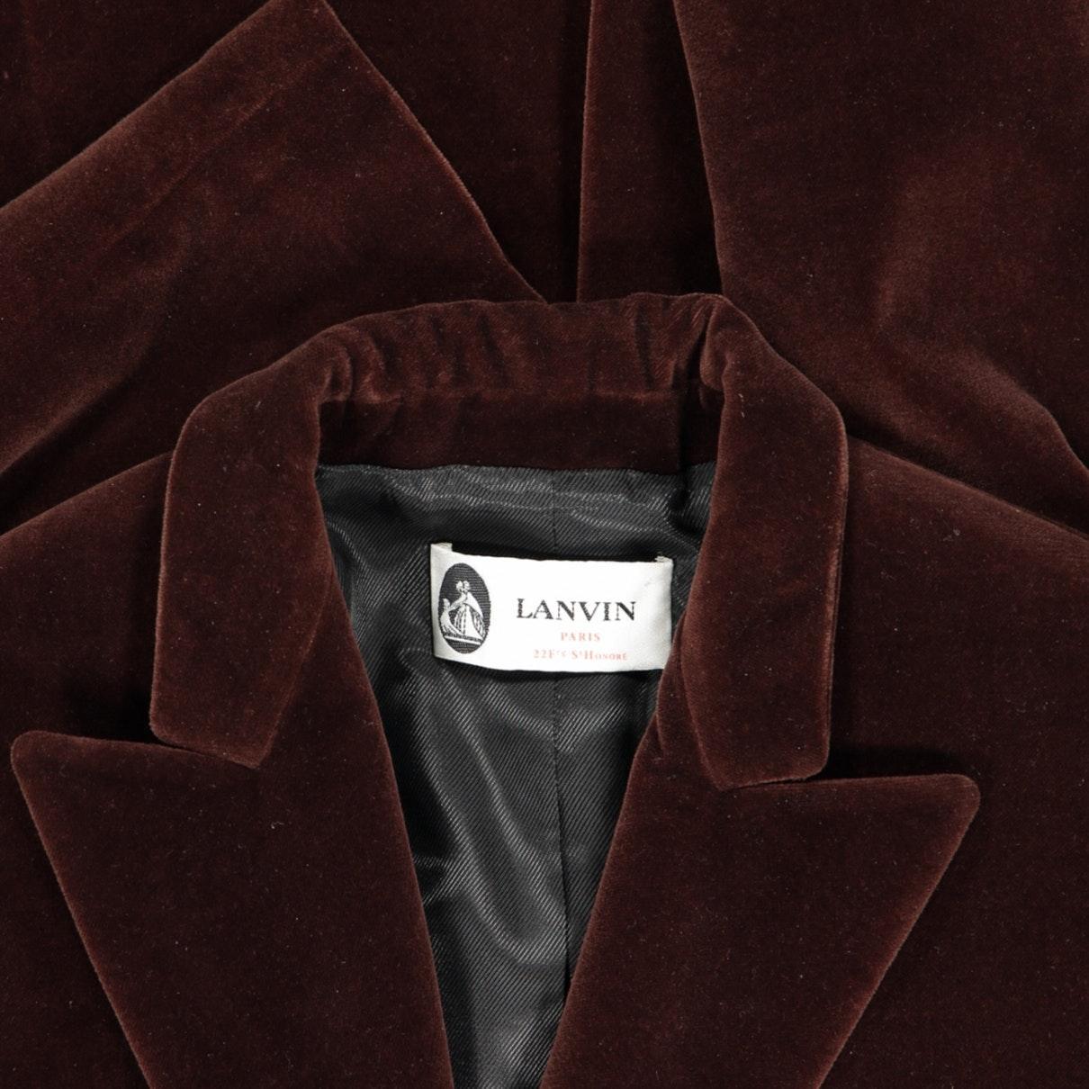 Chaqueta en terciopelo marrón Lanvin de Terciopelo de color Marrón