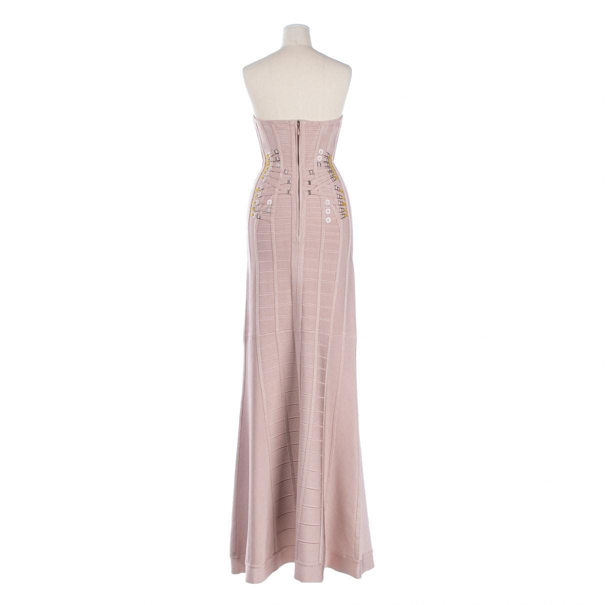 Vestido en sintético rosa Hervé Léger de color Rosa