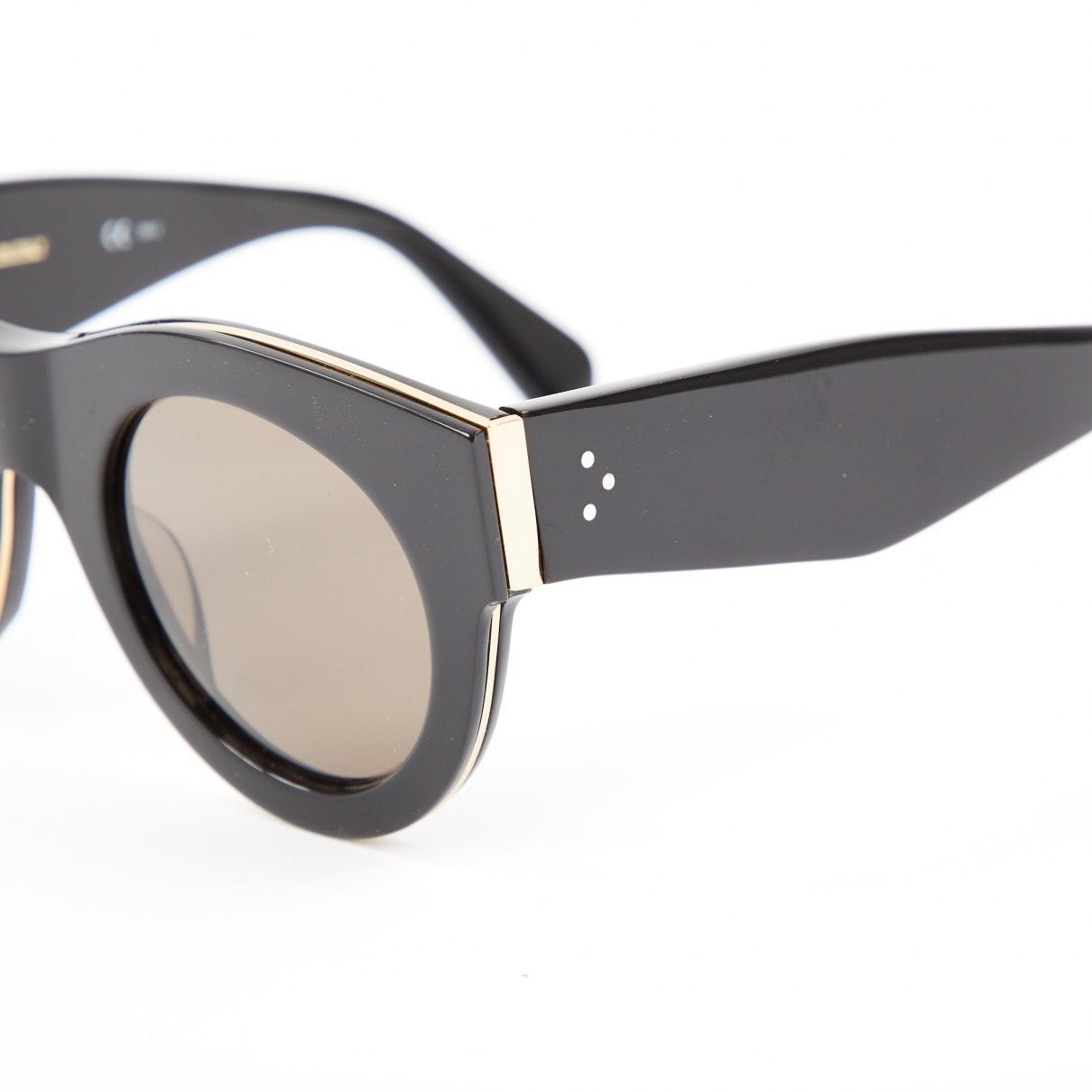 Celine Suede Black Plastic Sunglasses