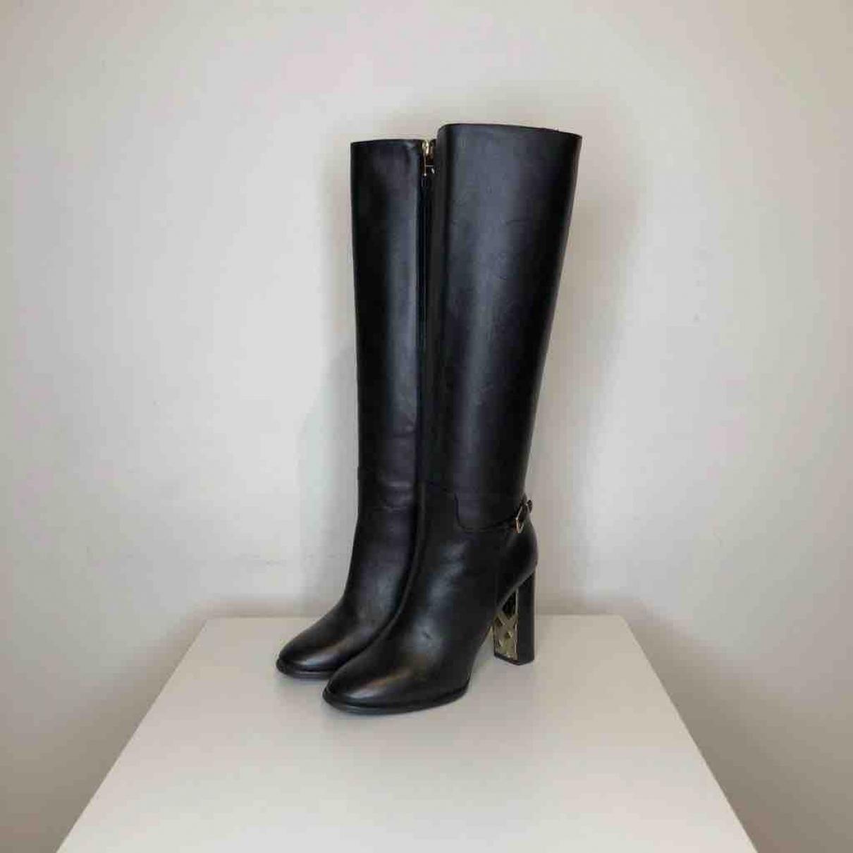 Botas de Cuero Burberry de Cuero de color Negro