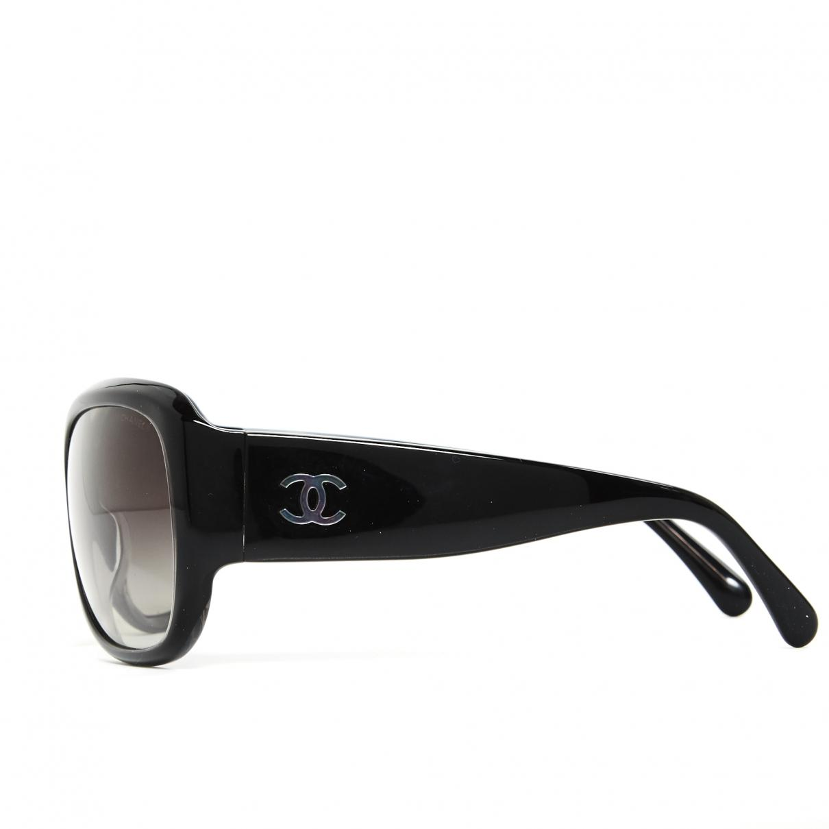3f1676582c66 Lyst - Chanel Oversized Sunglasses in Black