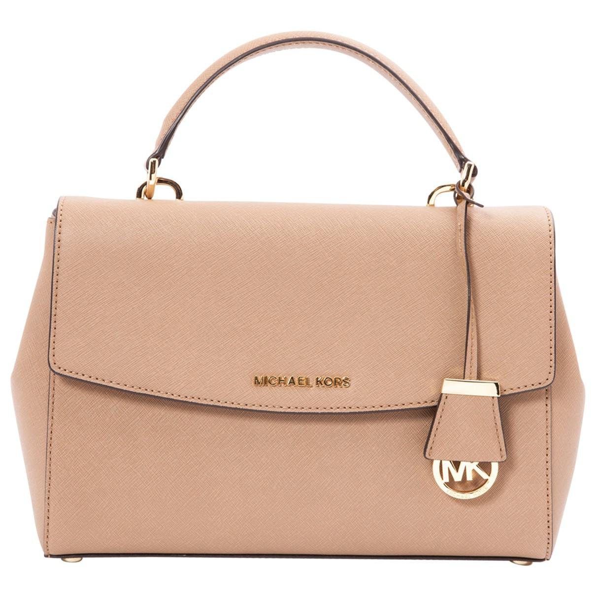 7e5db926c9fac6 Lyst - Michael Kors Pre-owned Leather Handbag in Natural