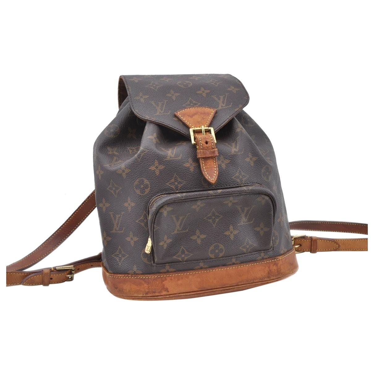 0aa02c1569ed Lyst - Louis Vuitton Montsouris Cloth Backpack in Brown - Save ...