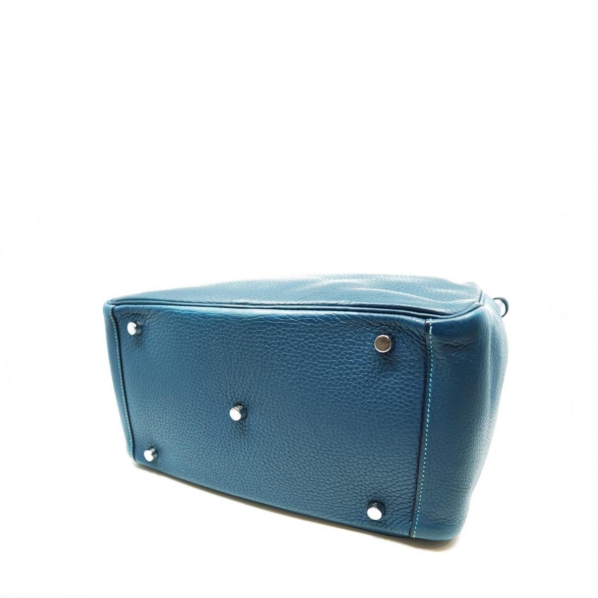 Sac à main Lindy en Cuir Bleu Cuir Hermès en coloris Bleu 7Id8