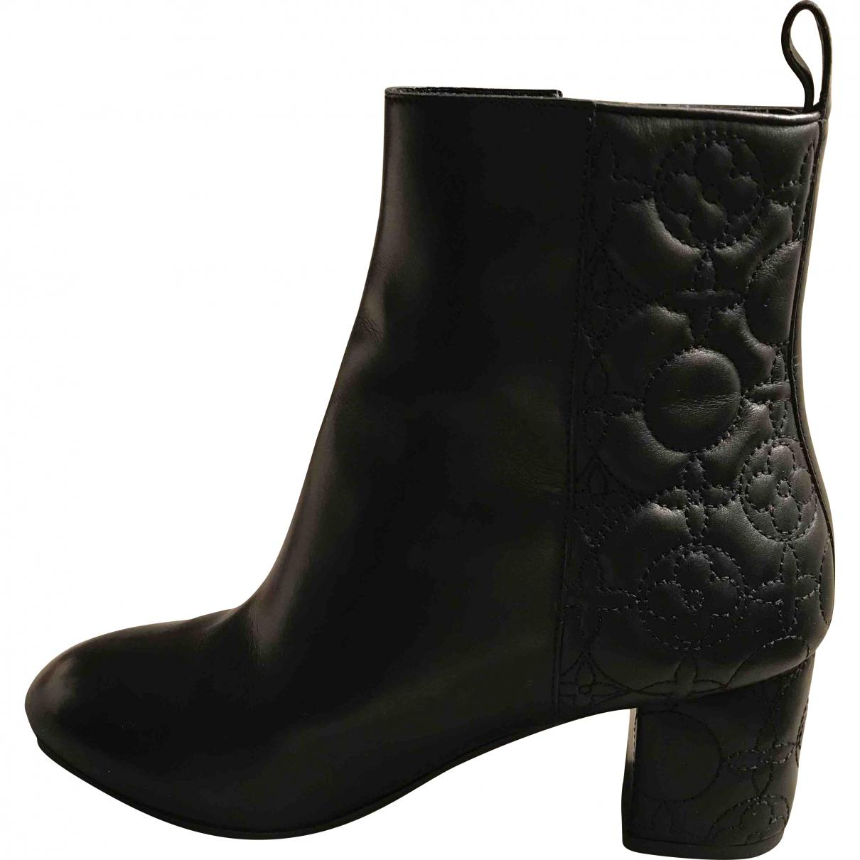 483b80404916 Lyst - Louis Vuitton Leather Boots in Black