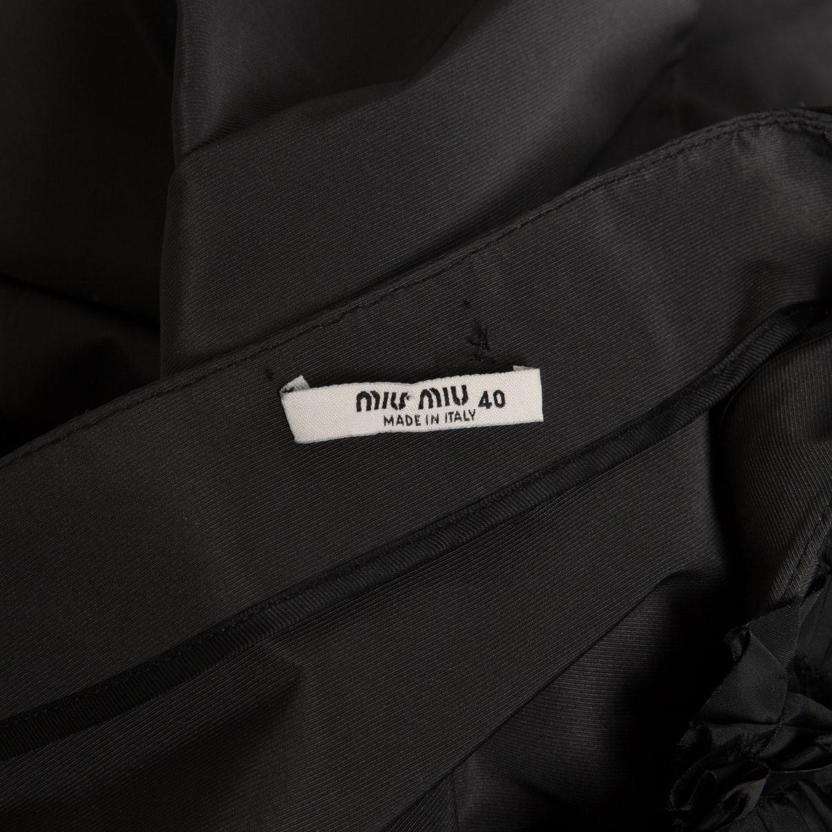 Vestido en poliéster antracita N Miu Miu de Tejido sintético de color Negro