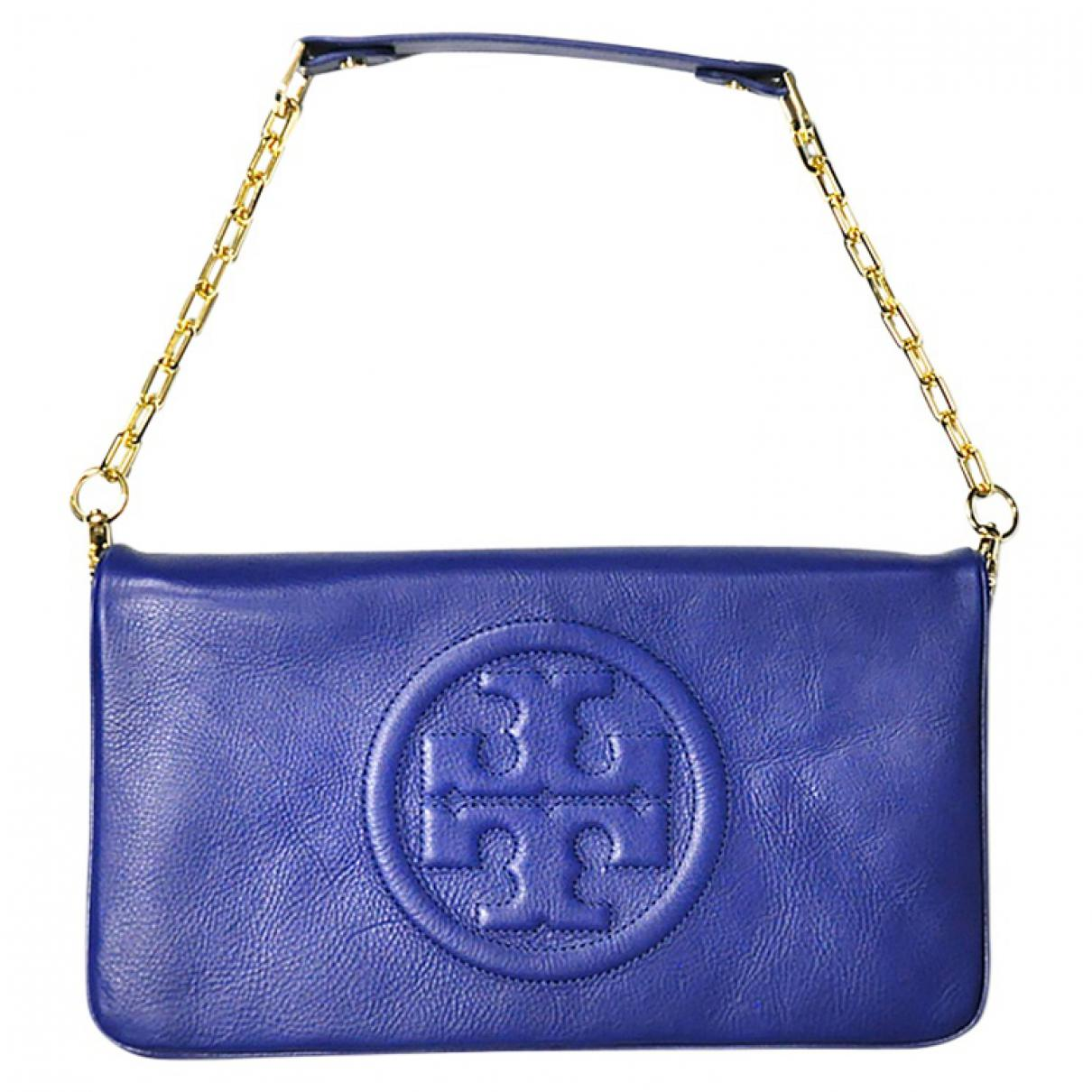 eb24241dd280 Tory Burch Pre-owned Blue Leather Clutch Bags in Blue - Lyst