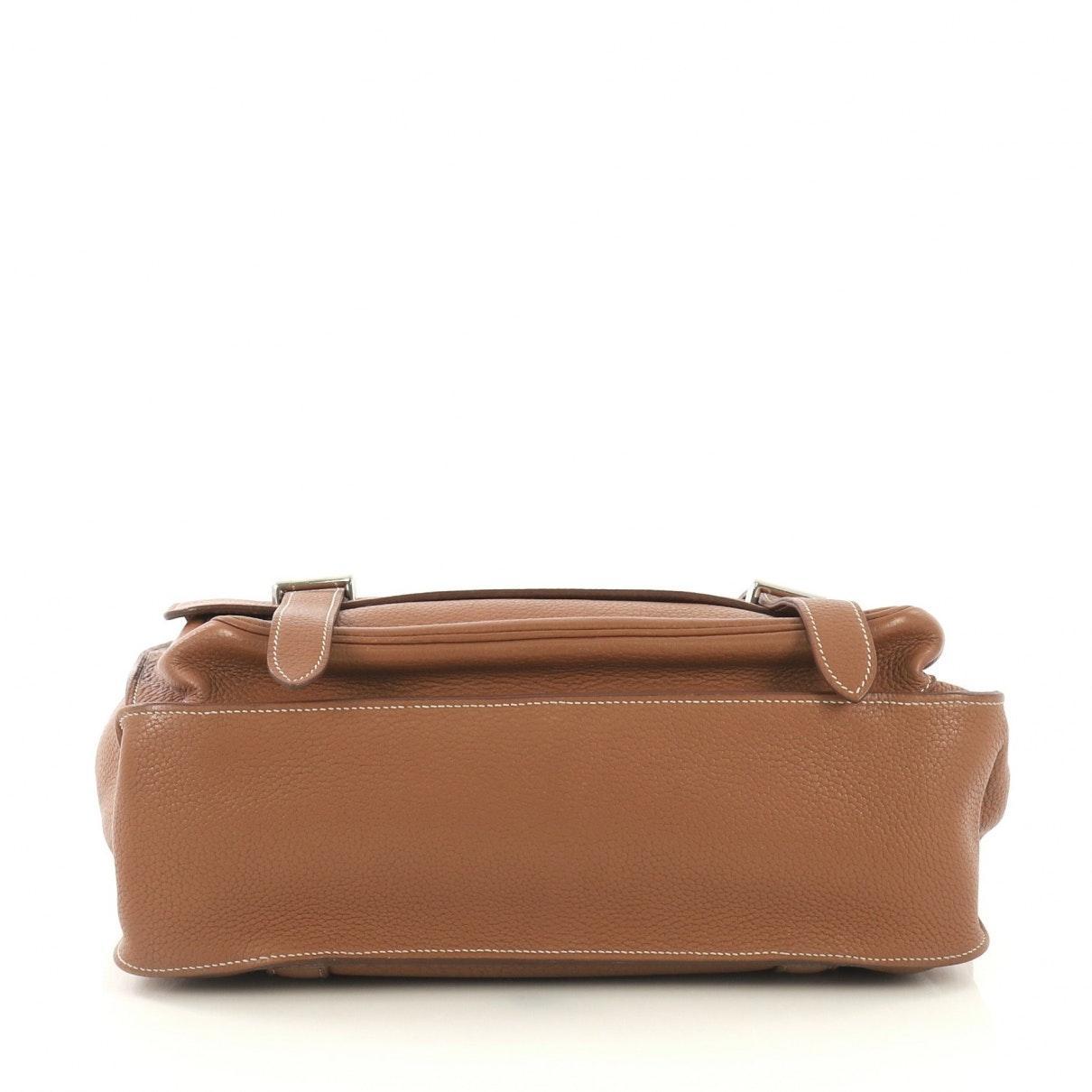 Hermès Leder Handtaschen in Braun KEtFY