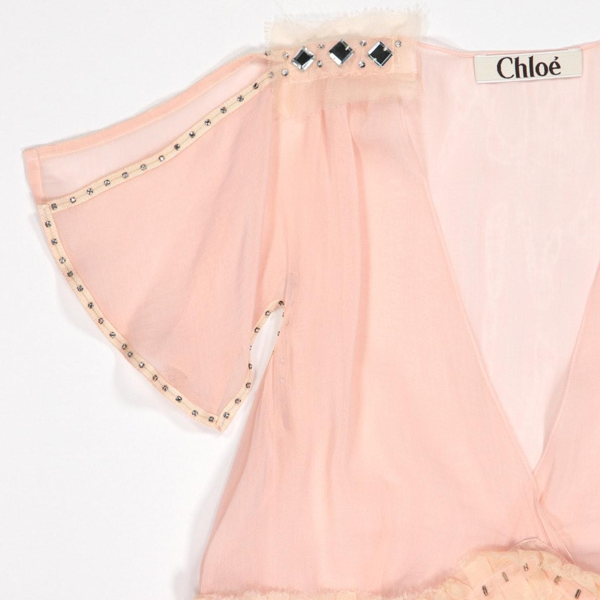 Chloé Silk Blouse in Pink