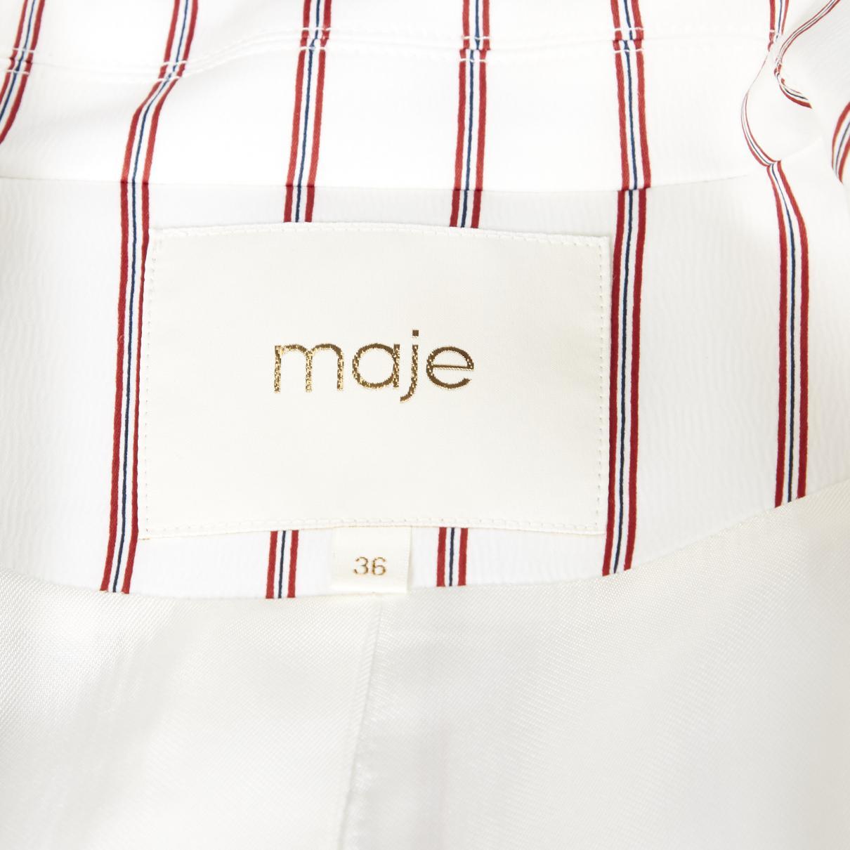 Blazer Synthétique Maje en coloris Blanc