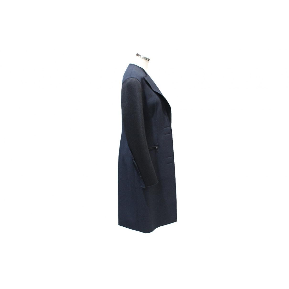 Mantel en Polyester Marine Synthétique Lanvin en coloris Bleu 0Hmpu