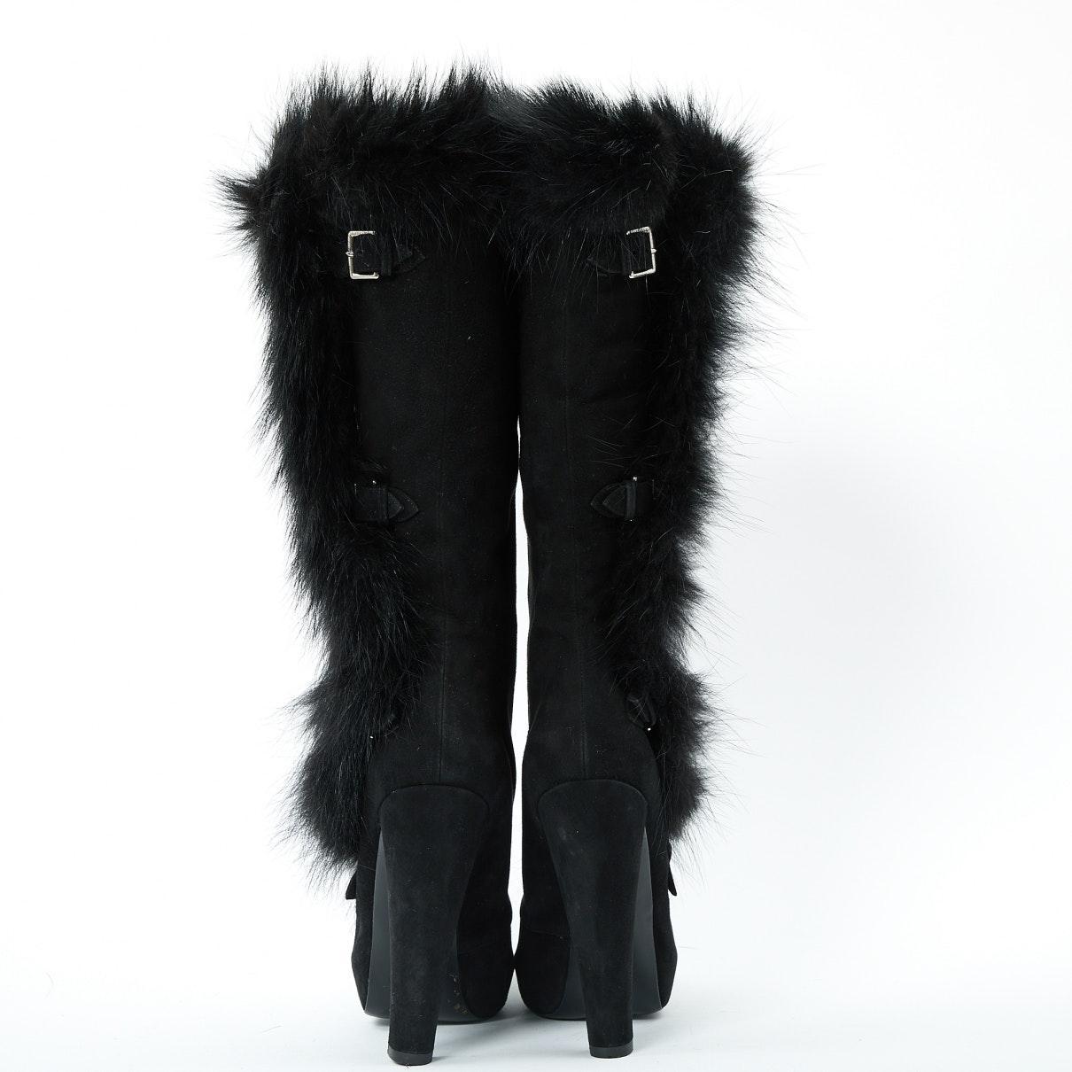 Botas en ante negro N Hermès de Ante de color Negro