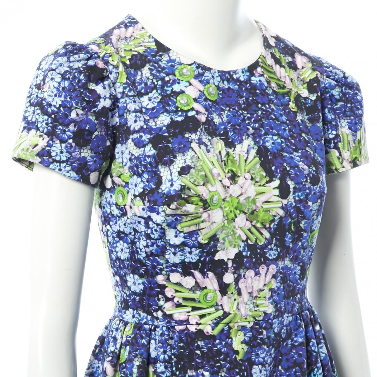 Vestido midi Mary Katrantzou de Algodón de color Azul
