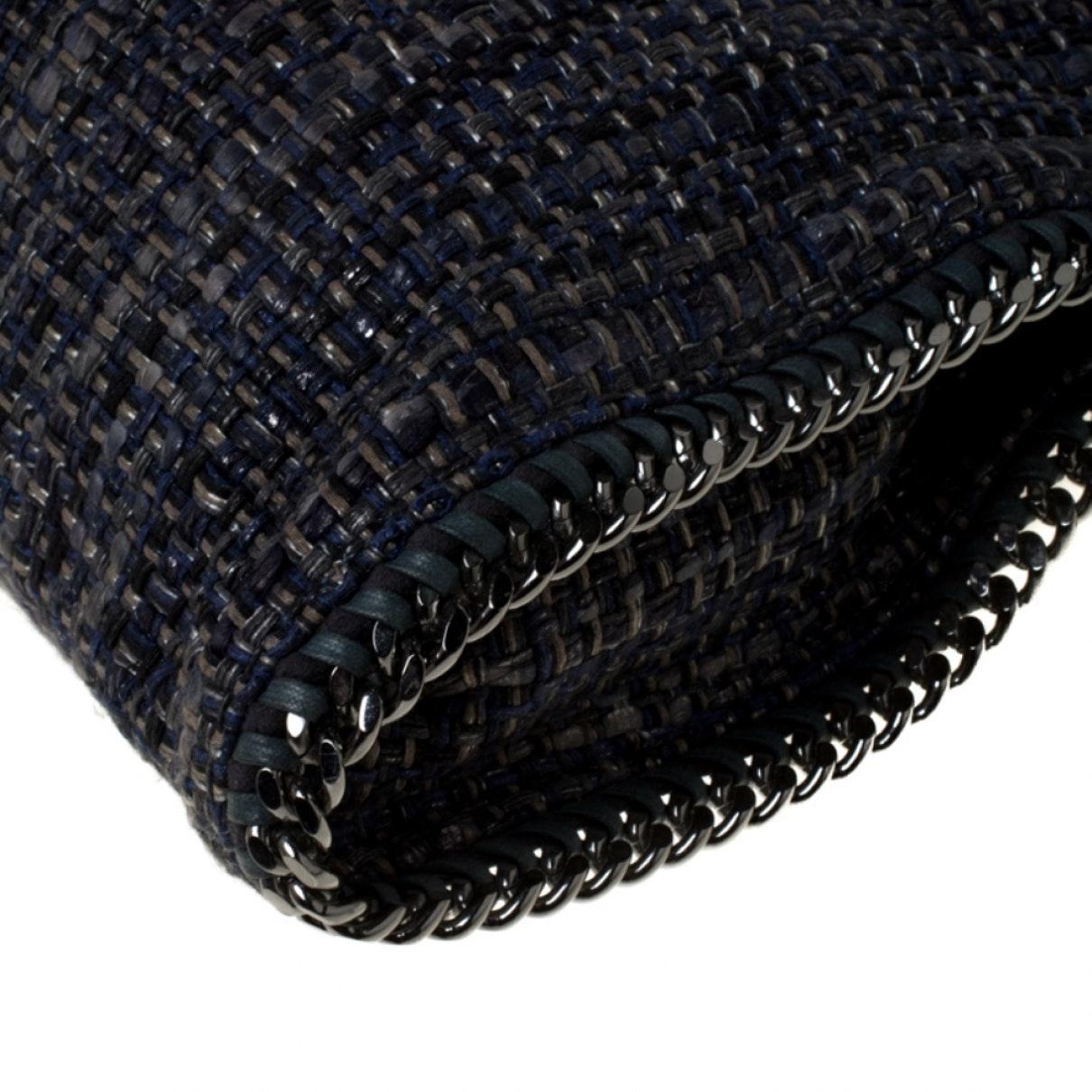 Sac à main Falabella en Toile Bleu Stella McCartney en coloris Noir HYzF