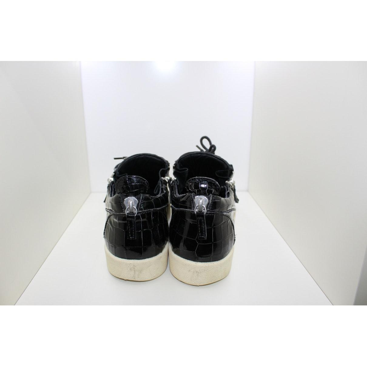 Giuseppe Zanotti n Black Patent Leather Trainers for Men