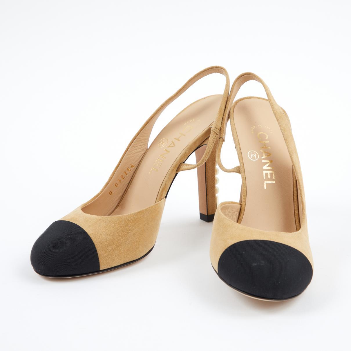16c2e798314 Chanel - Natural Slingback Heels - Lyst. View fullscreen