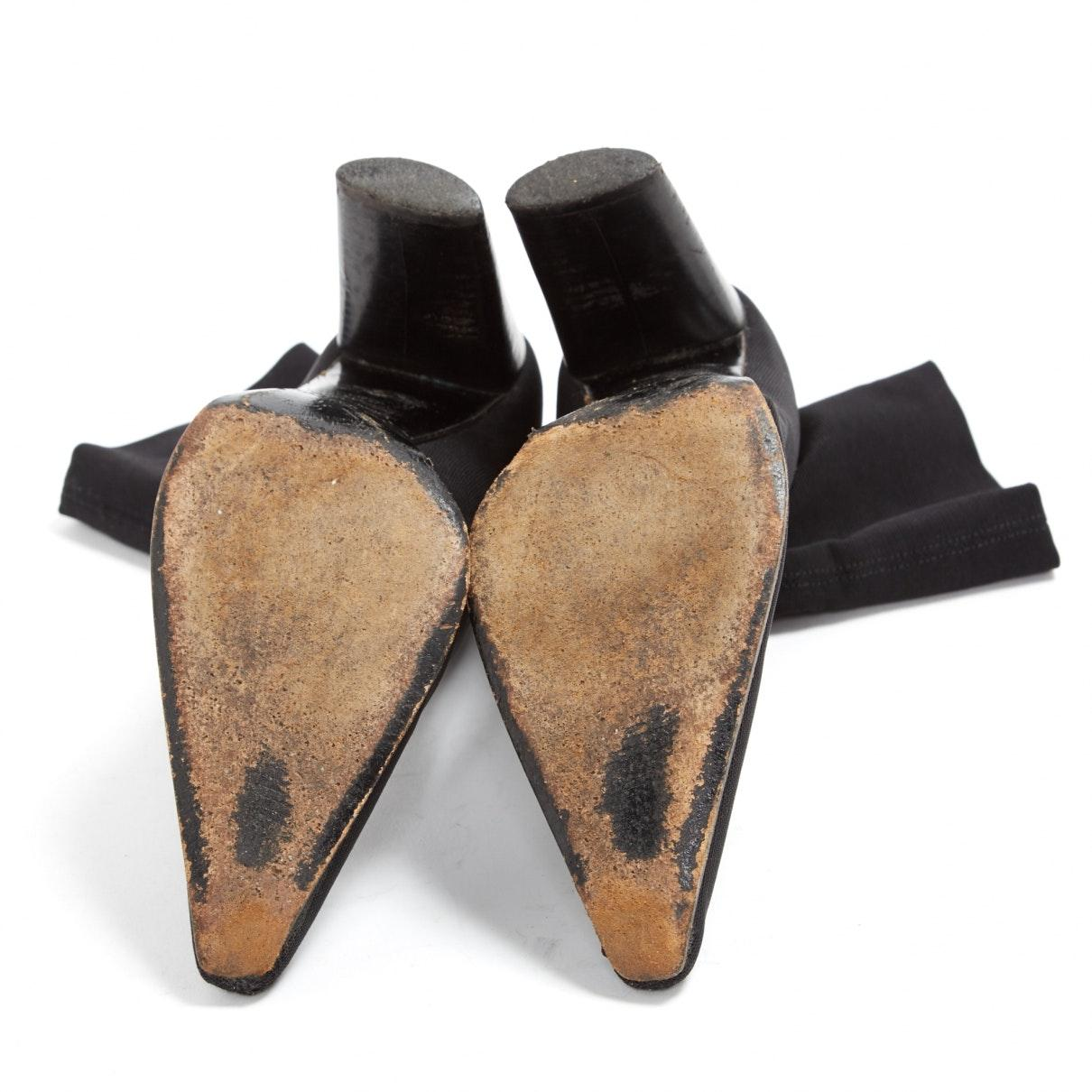Sergio Rossi Black Polyester Ankle Boots