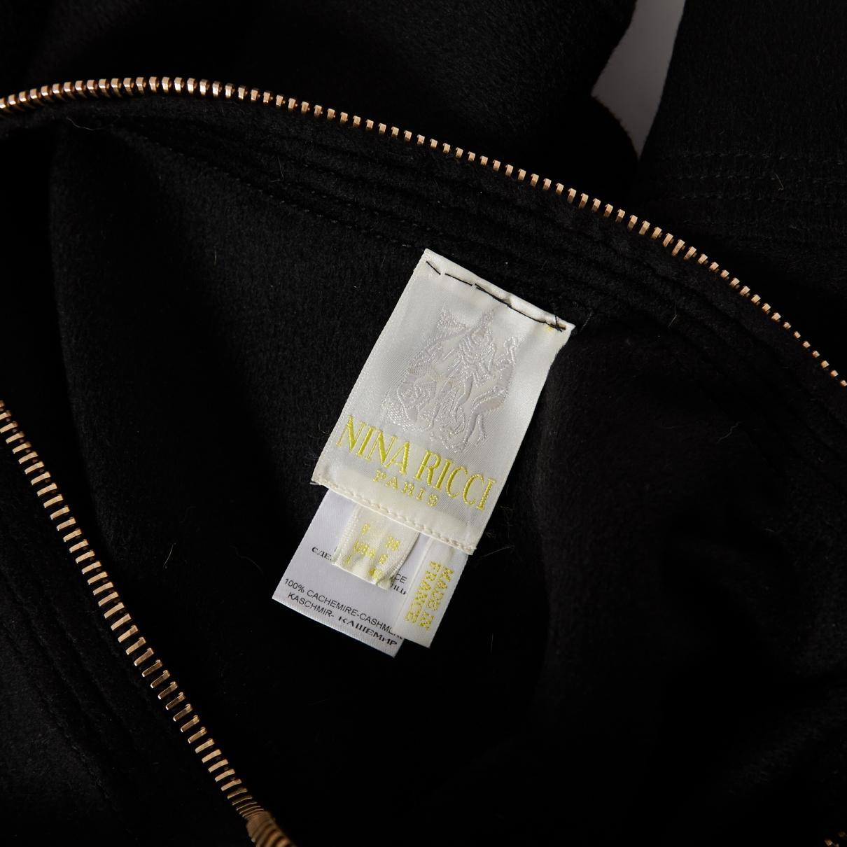 Top en cachemire Nina Ricci en coloris Noir