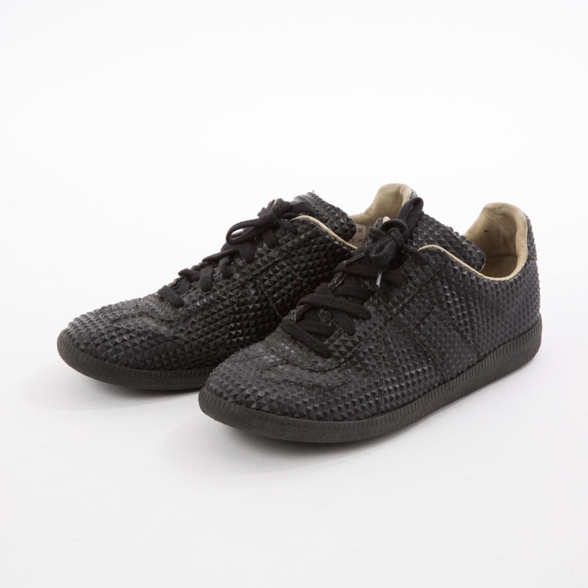 Maison Margiela Leather Black Plastic Trainers for Men