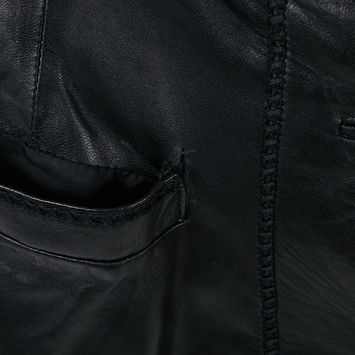 Jupe en Cuir Noir Cuir Fendi en coloris Noir