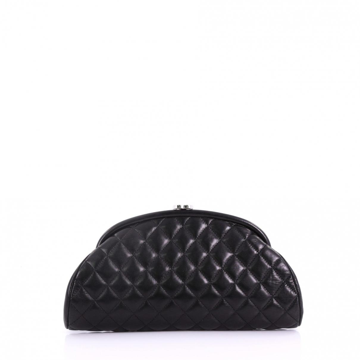 0e806ce0cef5 Chanel. Women's Black Timeless/classique Leather Clutch Bag. $1,560 From Vestiaire  Collective