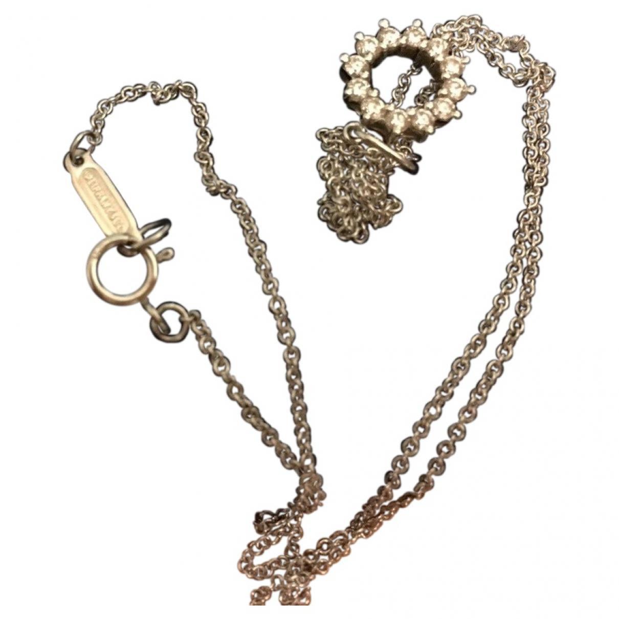 451eddb69f0f Tiffany   Co. White Platinum Necklace in White - Lyst