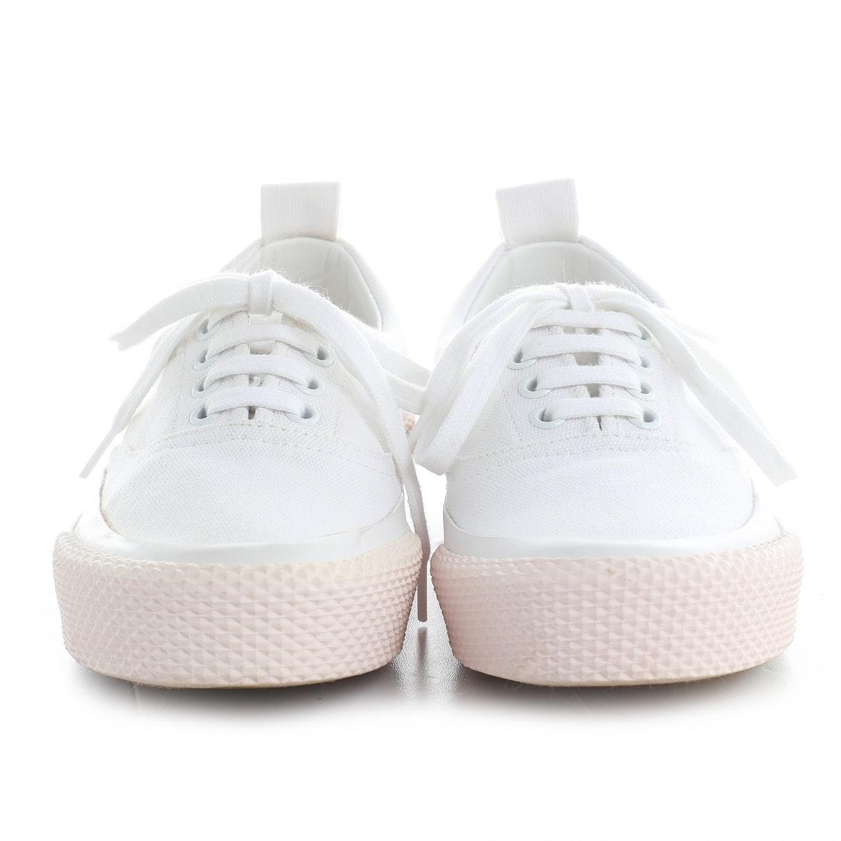 Deportivas en lona blanco Celine de Lona de color Blanco