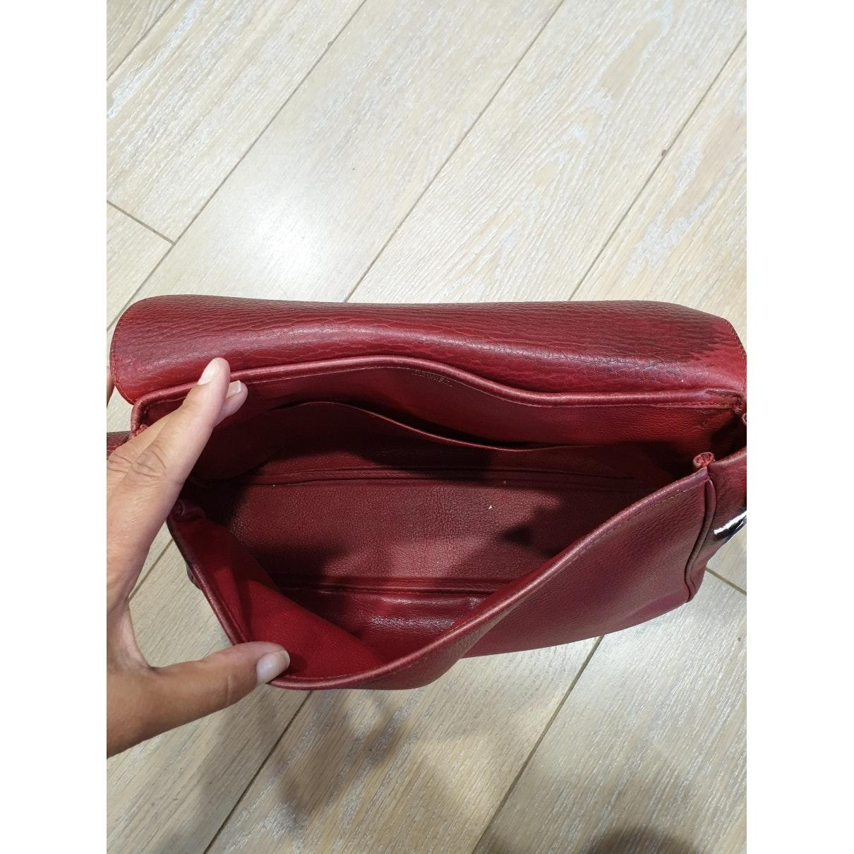 Sac à main N en Cuir Bordeaux Hermès nqgS