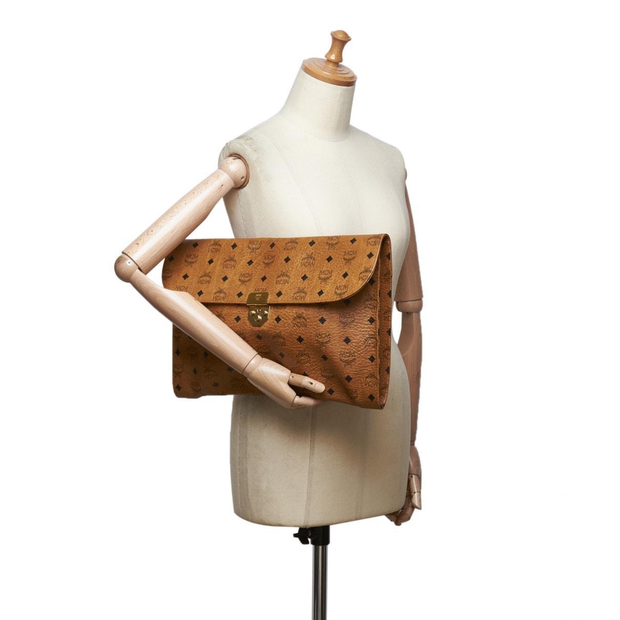 MCM Leder Leder Handtaschen in Braun Ne2fK