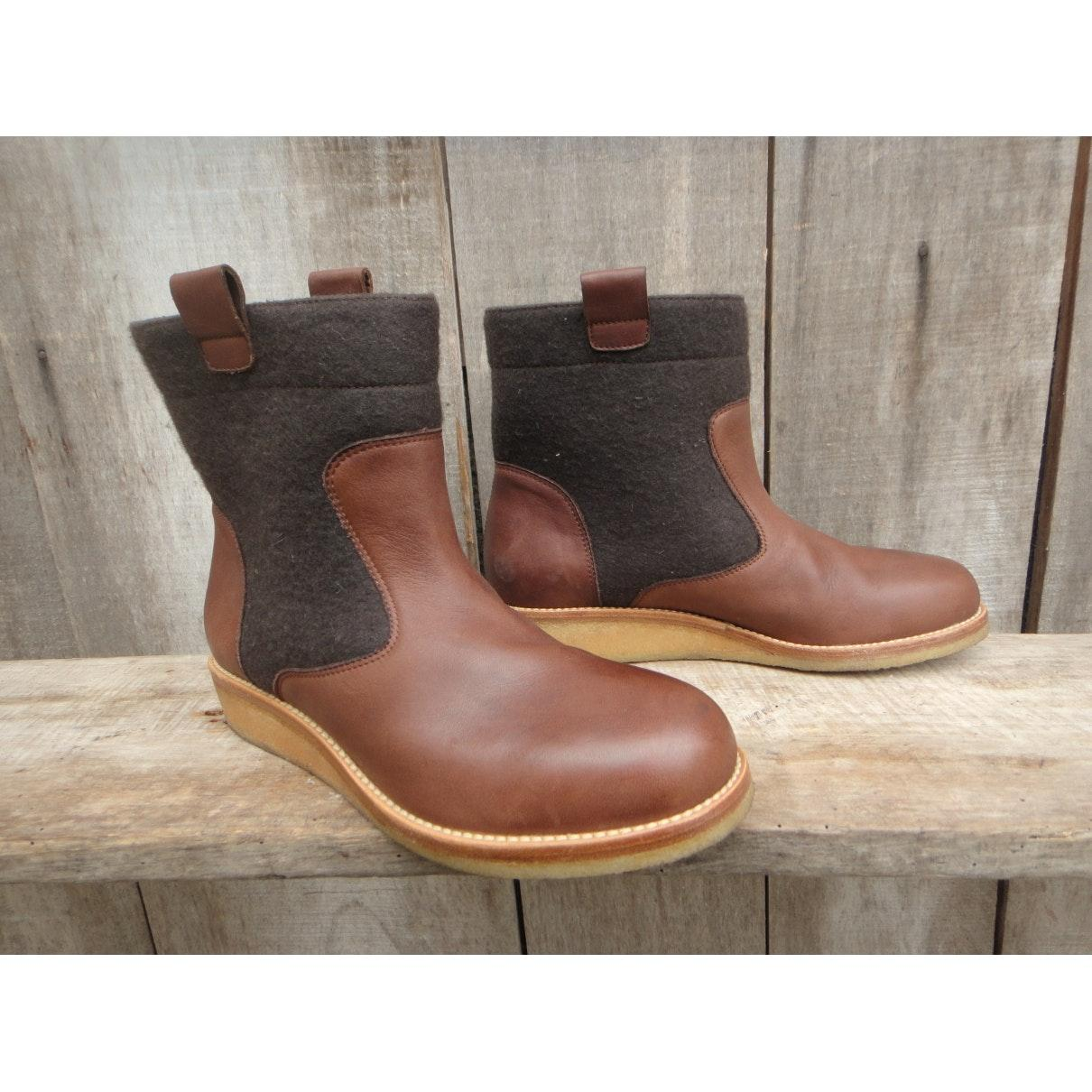 Maison Margiela n Brown Leather Ankle Boots