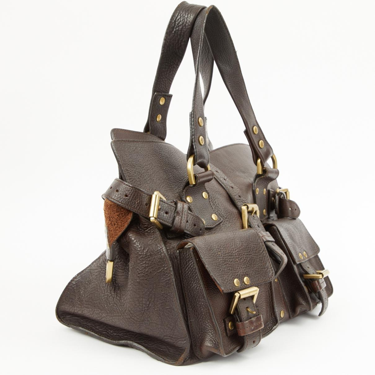 2bbea5d3ca50 Mulberry - Roxanne Brown Leather Handbag - Lyst. View fullscreen