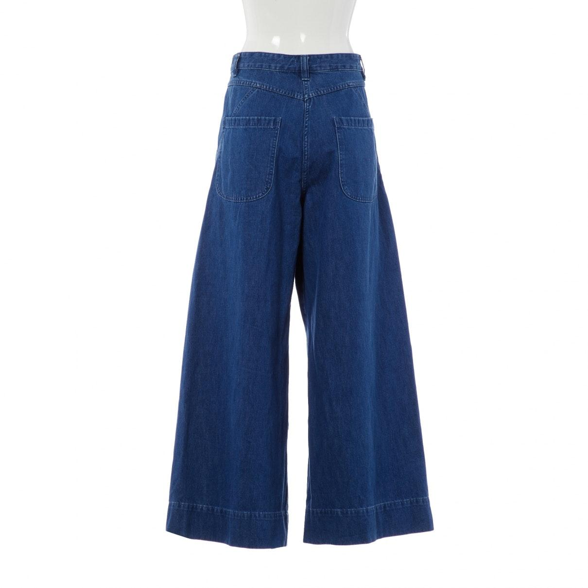 Ulla Johnson Baumwolle Breite Jeans in Blau RbeIp