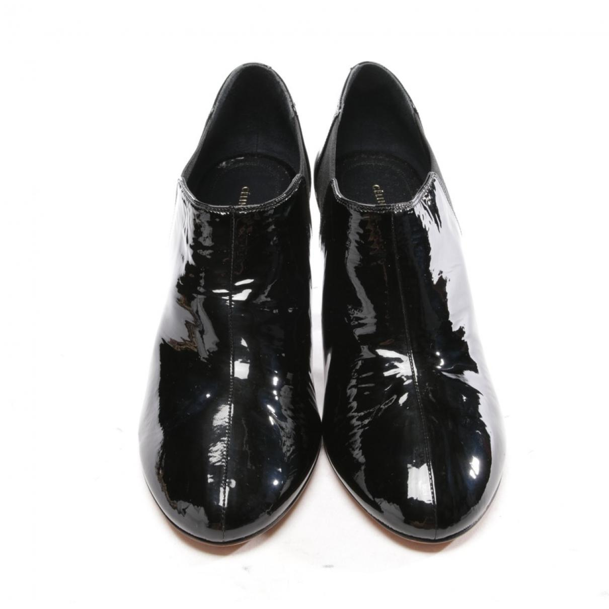 Botines de Charol Celine de color Negro