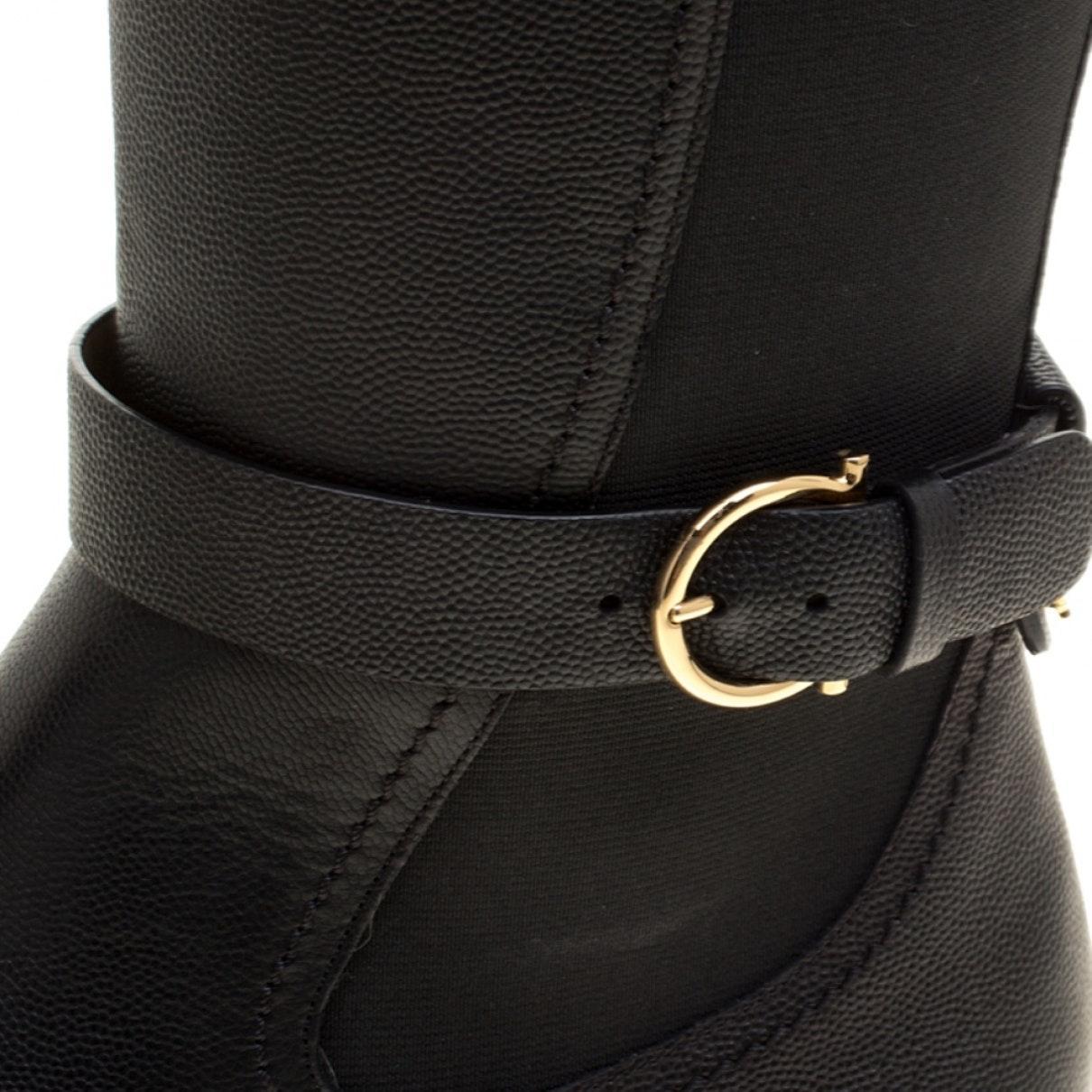 Botas en cuero negro Ferragamo de color Negro