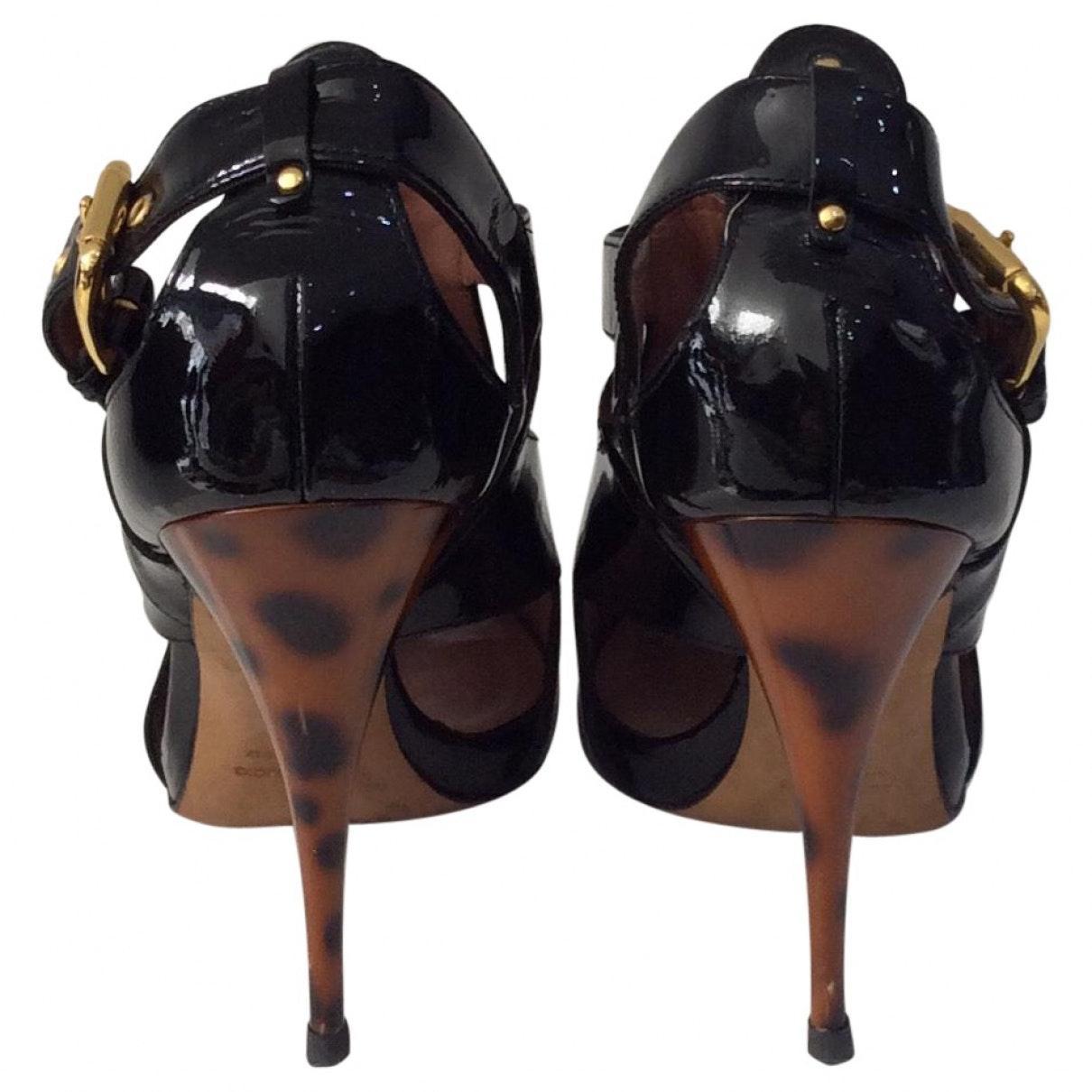 Tacones en charol negro N Giuseppe Zanotti de Cuero de color Negro