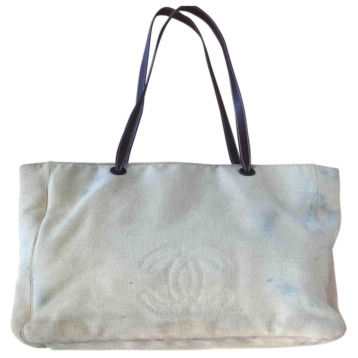 3a369d293308 Lyst - Chanel Cloth Tote in Natural