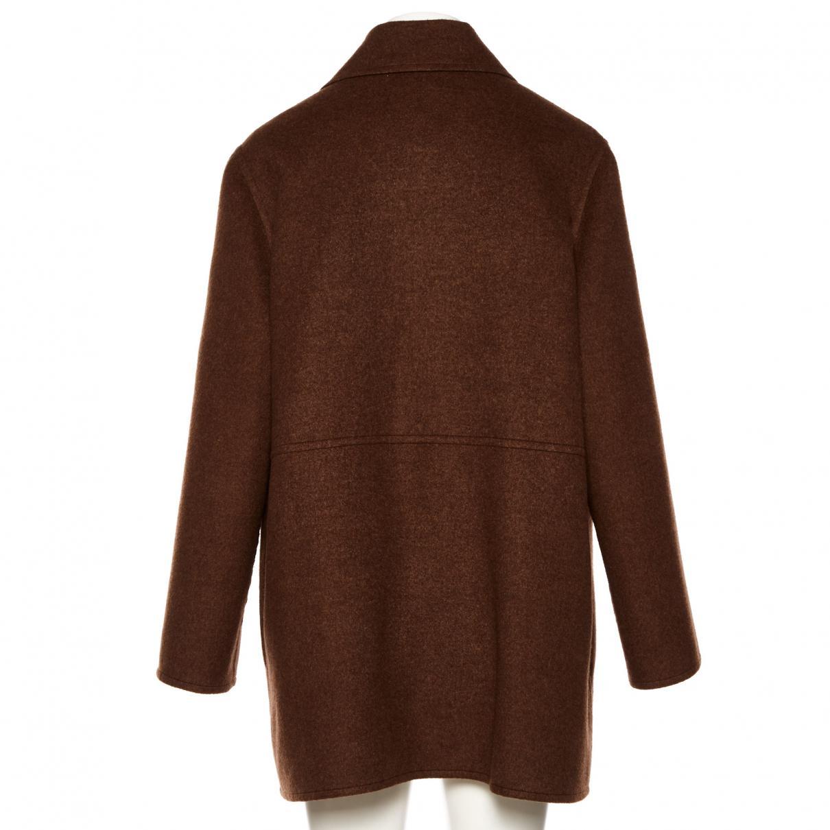 Manteau en cachemire Cachemire Hermès en coloris Marron Yp342