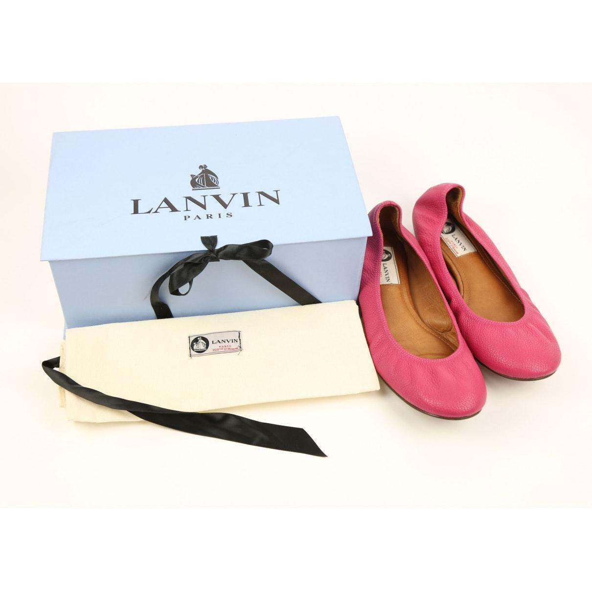 Mocasines en cuero rosa Lanvin de Cuero de color Rosa